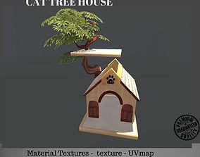 3D asset Cat Tree House