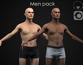 3D model PBR Men pack