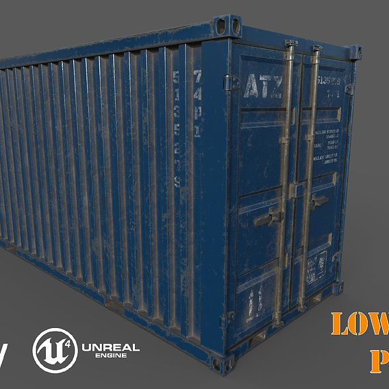 Old Blue Shipping Container