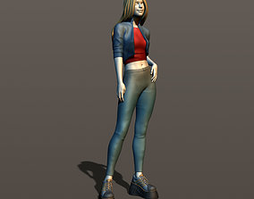Teen girl 3D print model
