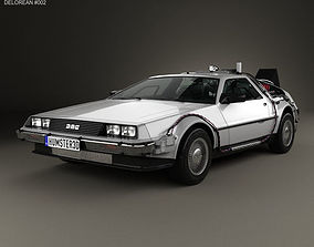 3D model DeLorean DMC-12 BTTF 1981