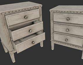 Old Wooden Dresser Cabinet PBR 3D asset