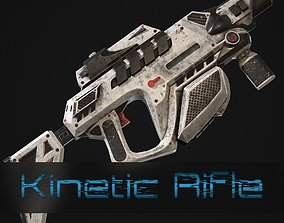 3D asset Sci fi Kinetic rifle
