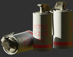 CS Gas Grenade 3D model