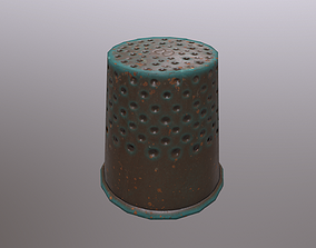 Old Bronze Thimble 3D model
