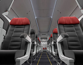 commercial Boeing 737 Interior Cabin Lounge With Galley 3D