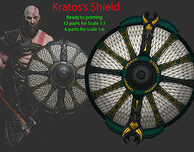 Shield of Kratos - Guardian Shield - 3D printable model 4
