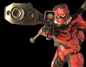 3D asset Halo Sniper Rifle