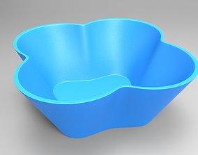 Flower bowl 3D print model