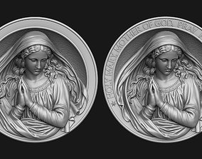 3D print model Holy Mary Medallion