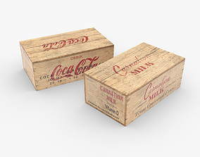 3D asset realtime US Rations Wooden Boxes WWII