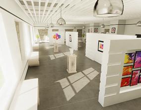 3D asset VR / AR ready Modern Gallery