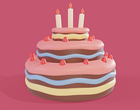 3D model Cartoon Cake
