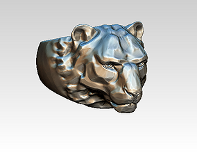 African animal safari ring jewel cat lion 3D print model 1