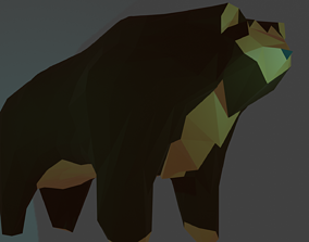 Bear 3D LowPoly Model game-ready
