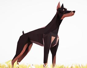 Dog Doberman 3D asset
