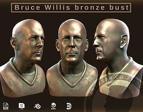 3D asset Bruce Willis bronce bust