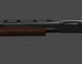 3D asset Remington 870 BLENDER MODEL