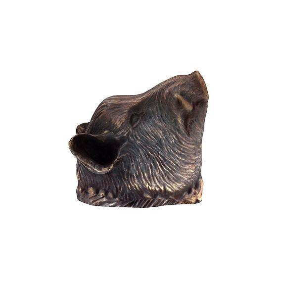 A wild boar statue