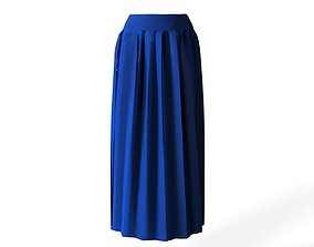 3D asset long skirt
