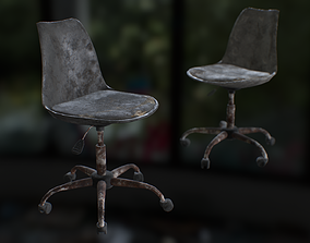 Old office chair 3D model VR / AR ready
