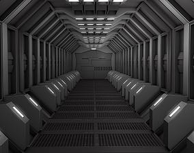 Sci Fi Corridor spaceship 3D model