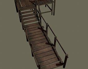 Wooden Walkway 3D asset