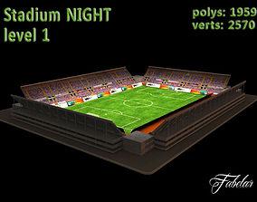Stadium level 1 Night 3D model