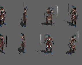 Japanese samurai Ninja 3D asset