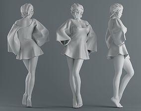 3D printable model Women wear skirts 005