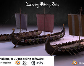 Oseberg Viking Ship 3D asset
