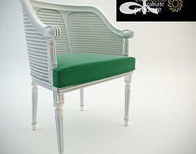 Chair Cabiate produce 3D model