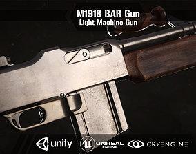 M1918 BAR gun 3D asset rigged