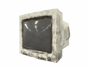 3D asset old crt monitor