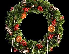 Christmas wreath 66cm 3D