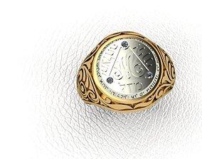 Ring men jewish 3D printable model