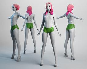 3D asset Female Basemesh 06