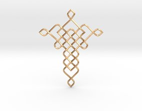 Braided Pendant 3D printable model celtic