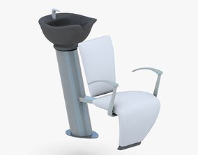 0894 - Hairdresser Chair 3D asset