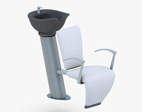 0894 - Hairdresser Chair 3D asset