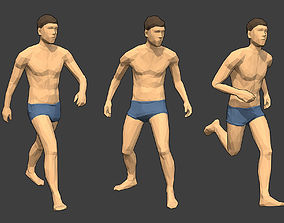 Rigged Lowpoly Male Character - Jim 3D model