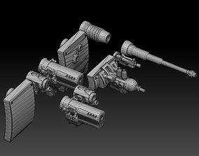 3D print model Panzer Buggy Guns