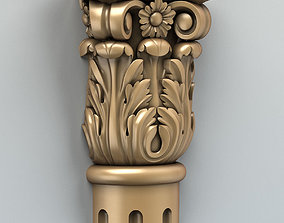 wood 3D model Column Capital 005