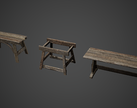 3D asset Medieval Tables Game Ready