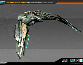SF Alien Bomber A2 3D model