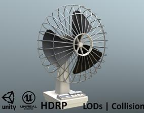 3D model Retro Fan - Unity - HDRP - UE4
