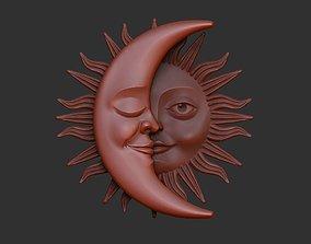 Sun and Moon Pendants 3D model