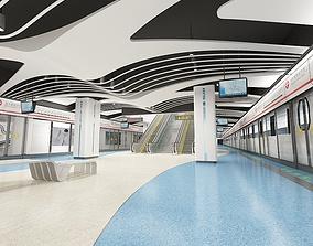 modern Subway Station 3D
