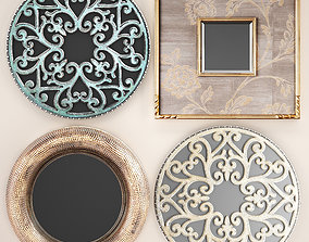 Collection of decorative mirrors 2 3D model