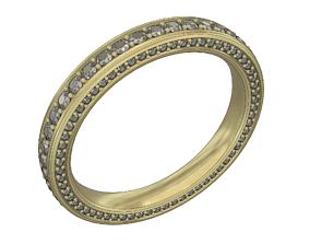 3 sides diamond wedding band 3D print model